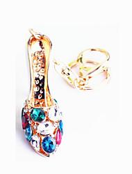 кольцо сплава кристалл алмаза обувь автомобиль ключ общего цинка