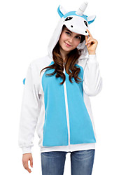 Inspirado por Fantasias Fantasias Anime Fantasias de Cosplay Hoodies cosplay Patchwork Azul Manga Comprida Top