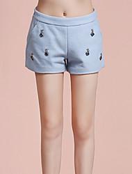 Damen Hose - Einfach Kurze Hose Wolle / Polyester Unelastisch