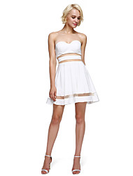TS Couture Cocktail Party Prom Dress - Sexy A-line Sweetheart Short / Mini Jersey with Pleats