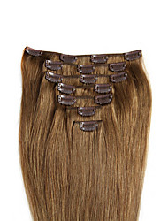"18"" color 6/613 clip in remy human hair extensions"