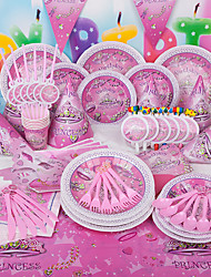 "Birthday Party Favors & Gifts-1Piece/Set Tissue Paper Decoration Pearl Paper Butterfly Theme 2"" Circle Personalized Pink"