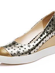 Women's Heels Spring / Summer / Fall / Winter Comfort Outdoor / Dress / Casual Wedge Heel Split Joint / FlowerBlack /