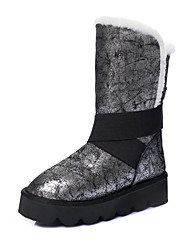 Women's Boots Spring Fall Winter Other Cowhide Outdoor Dress Casual Platform Gore Silver Champagne Other