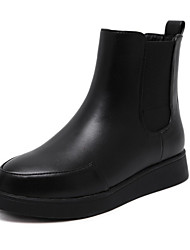 Women's Boots Fall Winter Comfort Leather Dress Casual Party & Evening Low Heel Black