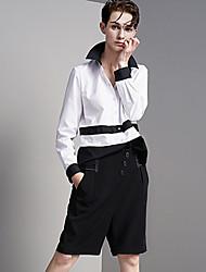 De las mujeres Pantalones Cortos-Simple Rígido-Poliéster / Licra