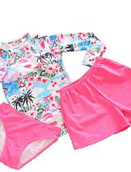 Tankinis Aux femmes Fleur / Sport A Bretelles Nylon / Polyester / Spandex