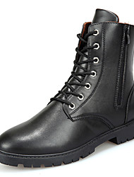 Men's Motorcycle Boots Fashion Riding Boots Casual Martin  Boots Flat Heel Zipper / Lace-up Black / Brown Walking