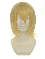 Kingdom Hearts Series Snow Light Mixed Gold Versatile Cocked Short Halloween Wigs Synthetic Wigs Costume Wigs