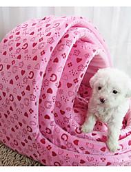 Cat / Dog Bed Pet Mats & Pads Soft Pink / Rose Fabric