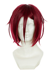 Free! Rin Matsuoka Dark Red Versatile Turned Alice Halloween Wigs Synthetic Wigs Costume Wigs