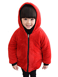 Girl's Spring/Fall/Winter Fashion Casual/Daily Long Sleeves Thicken Plush Both Sides Is In Cotton-padded Jacket Coat