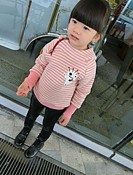Girl's Casual/Daily Striped Hoodie & SweatshirtCotton Winter Black / Pink