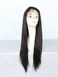 Silky Straight 100% Virgin Brazilian Human Hair Lace Front Wigs for Black Women with Baby Hair