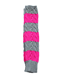 Ladies Long Arm Finger Gloves (Light Gray Plus Rose)