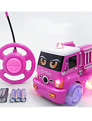 Car Racing 566-7C 1:10 Brush Electric RC Car / 2.4G Pink Ready-To-Go Remote Control Car