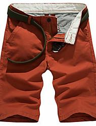 Pantalon Aux femmes Droit / Jeans simple Coton Micro-élastique