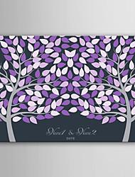 e-home toile signature personnalisée trame invisible impression -Purple deux grands arbres