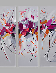 3 Sets Canvas Art Modern Style Handmade Painting For Living Room Home Decor