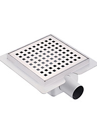 150mmX150mm Stainless Steel 304 Horizontal Shower Drain with Surrounding Tile Flange Waste Side Outlet with Square Hole on Surface