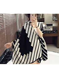 Yang Mi with money black and white striped shawl scarf shawl scarves 2016 spring and summer new European and American fashion