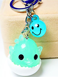 Cartoon Creative Key Button Colorful Chick Car Key Pendant