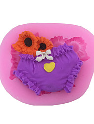 Flowers & Baby Diaper Type Candy Fondant Cake Molds  For The Kitchen Baking Molds 7.9*6.3*1.8cm