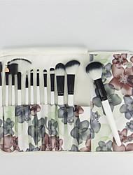 12 Conjuntos de pincel Pêlo Sintético Profissional / Portátil Madeira Rosto / Olhos / Lábio Outros