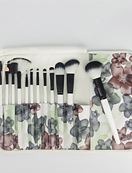 12 Sistemas de cepillo Pelo Sintético Profesional / Portable Madera Rostro / Ojo / Labio Otros