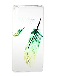 for Sony Xperia XA Xperia E5 Feather Pattern High Permeability TPU Material Phone Case