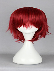 animé q frère détective inaba Inaba hiroshi classiques rouges 32 cm courte ligne droite sexy cosplay perruque