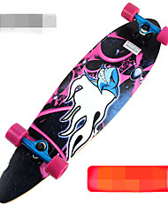 Road plate four-wheel adult long walking downhill road brush street skateboard