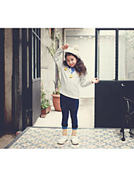 Girl's Casual/Daily Solid TeeCotton Winter / Fall Gray