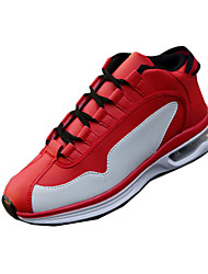 Men's Sneakers Spring / Fall Comfort PU Athletic / Casual Flat Heel  / Lace-up Black / Red / Black and White