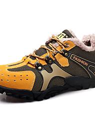 Femme-Extérieure / Décontracté / Sport-Marron / Jaune / Gris / Kaki-Talon Plat-Confort-Sneakers-Daim
