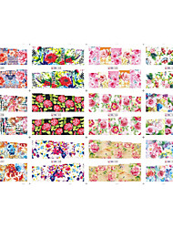 12 designs ,12 different images Nail Sticker Art Autocollants de transfert de l'eau Maquillage cosmétique Nail Art Design
