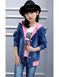 Girl's Casual/Daily JeansCotton Fall Green / Pink