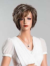 nova chegada elegante curto sem tampa reta perucas de alta qualidade cabelo humano cor misturada 8 inchs