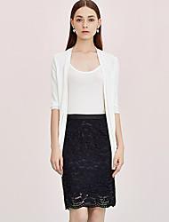 Damen Röcke - Einfach Knielang Baumwolle / Nylon Unelastisch