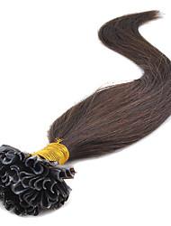 queratina u ponta da extensão do cabelo 16-24inch prebonded cabelo u-ponta da extensão do cabelo queratina na cápsula cabelo do prego