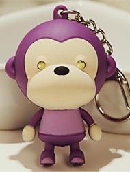 Cartoon Cute LED Loudspeaker Mouth Monkey Keychain