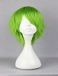 anime Gundam Kidou Senshi 00 fitas Altmark 32cm luz cosplay verde traje perucas partido peruca curta