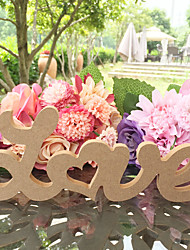The LOVE Style Wooden Decoration