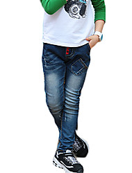Boy's Casual/Daily Solid Jeans,Polyester Winter / Fall Blue