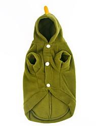 Hunde Pullover Grün Hundekleidung Winter einfarbig Lässig/Alltäglich /