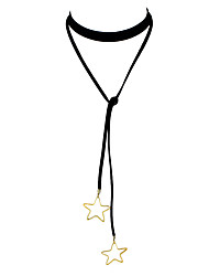 Gothic Star Pendant Long Choker Necklace