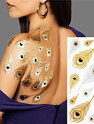 2 Tattoo Aufkleber Schmuck Serie Non Toxic / Muster / Hawaiian / Unterer Rückenbereich / Blitz / HochzeitBaby / Kind / Damen / Herren /