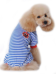 Cães Macacão Pijamas Roupas para Cães Inverno Primavera/Outono Marinheiro Fofo Casual Preto Vermelho Azul