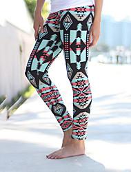 Femme Bohème A Motifs Legging,Polyester
