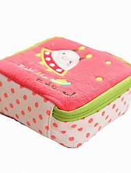 Fashion Portable Cotton Fabric Multi-function Travel Sewing Kit Sanitary Towel Storage Bag